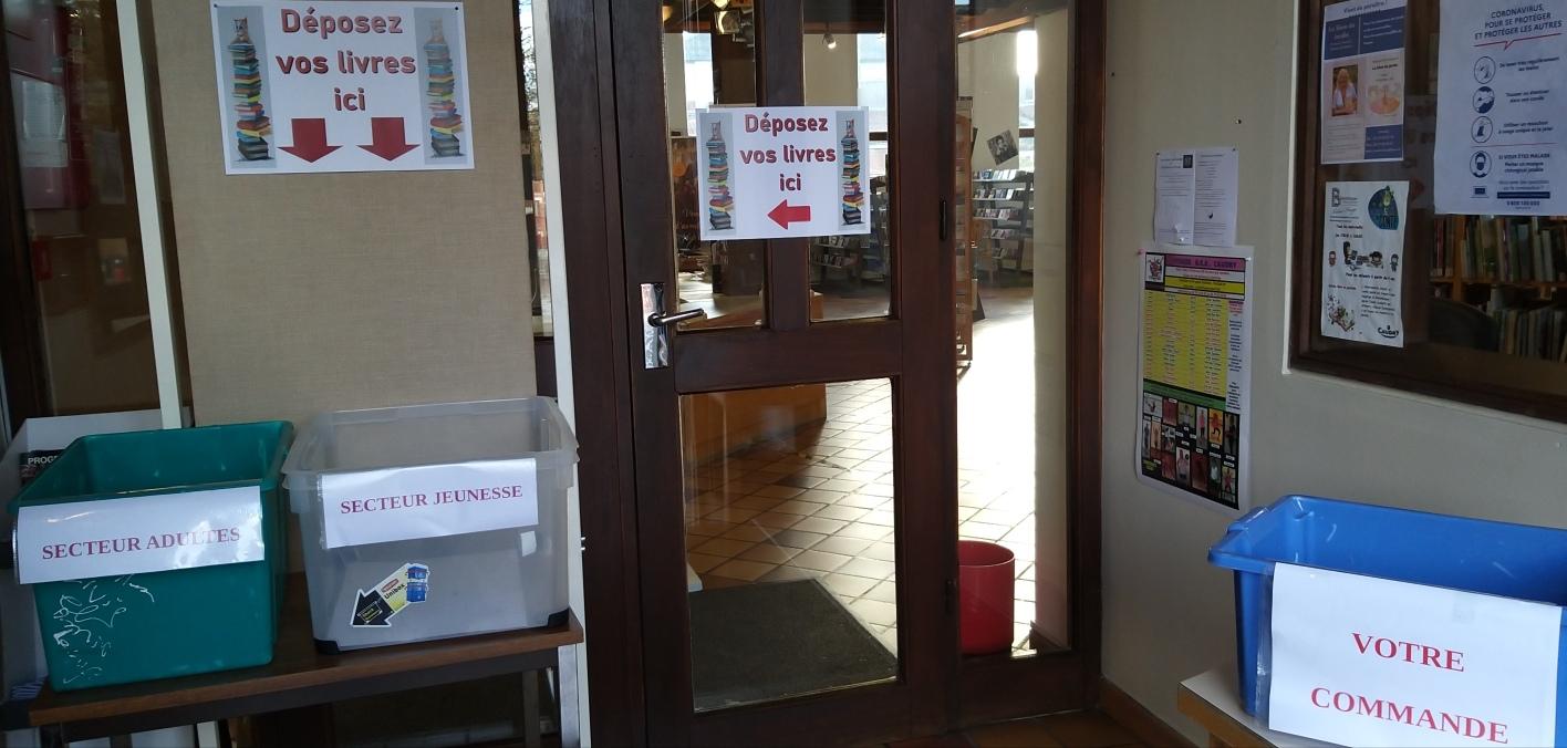 Service de drive de la bibliothèque (à partir du lundi 9 novembre 2020) |